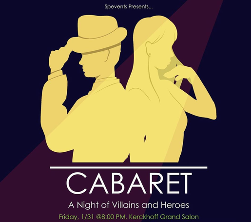 Poster art for Cabaret: A Night of Villains and Heroes 2020.