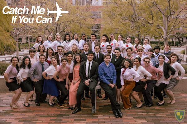 Picture of the cast from our production of Catch Me If You Can
