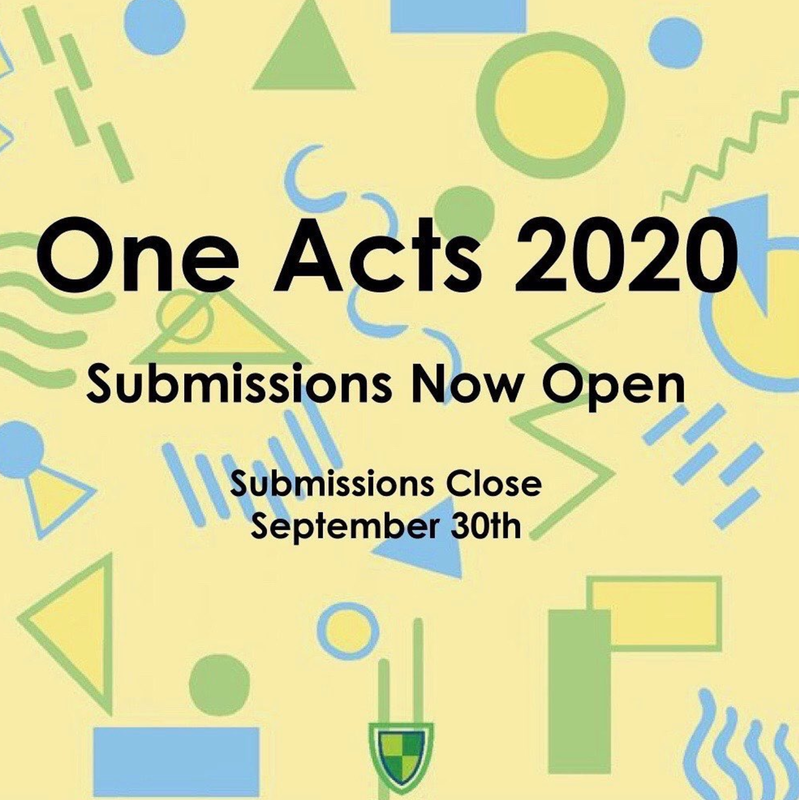 One Acts Graphic saying that submissions for One Acts pieces were open until September 30th.